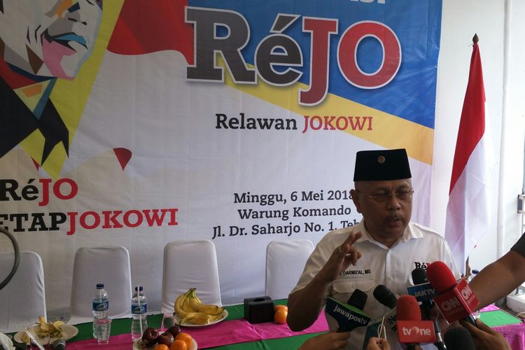 Ketua Umum ReJo Darmizal di Jakarta, Minggu (6/5/2018)