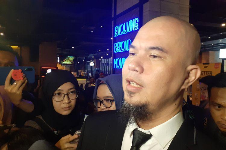 Ahmad Dhani saat ditemui di Mal FX, Jakarta Pusat, Rabu (15/1/2020).