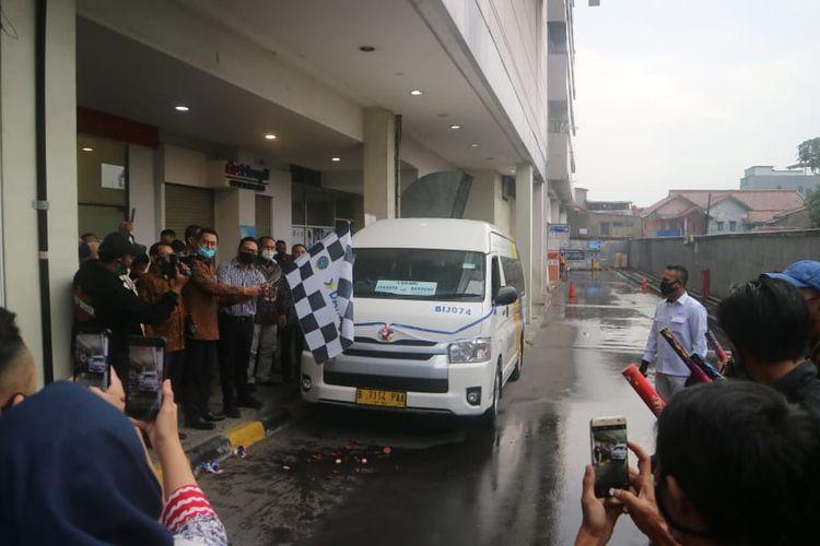 Armada Bus DAMRI rute Jakarta (Kalibata City) - Bandung (Festival Citylink) resmi diluncurkan, Jumat (3/7/2020).