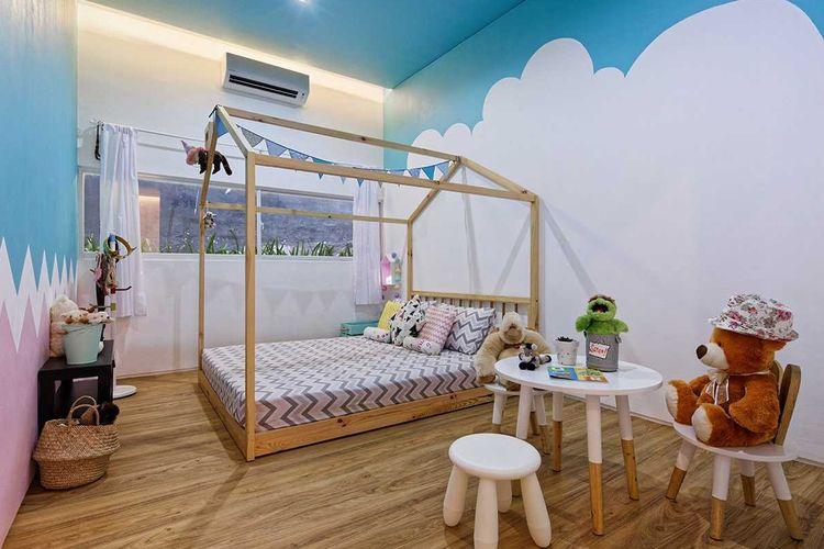 Kamar anak pada proyek Inset House, karya: Delution