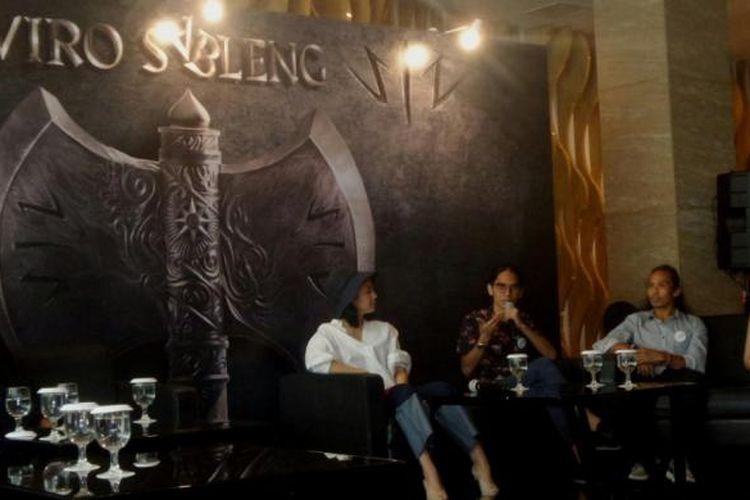 Konferensi pers film Wiro Sableng di JS Luwansa Hotel, Jakarta Selatan, Kamis (9/2/2017).