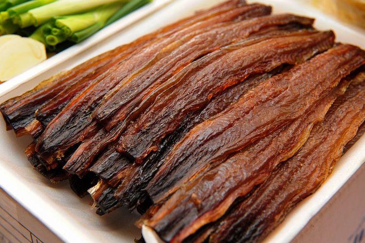 Gwamegi, makanan khas Pohang yang terbuat dari ikan paruh DOK. Shutterstock/Yeongsik Im