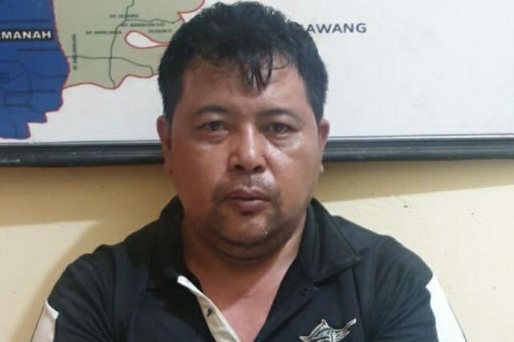 Brusly Wongkar (40), pelaku masturbasi di depan bocah diringkus polisi di bilangan Cikarang Utara, Jumat (24/1/2020).