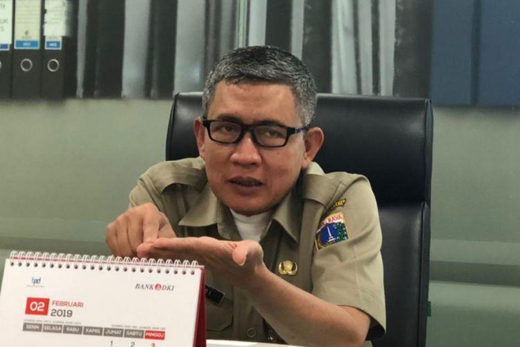 Pelaksana Tugas (Plt) Kepala Badan Pembinaan Badan Usaha Milik Daerah (BP BUMD) DKI Jakarta Riyadi di Balai Kota DKI Jakarta, Jakarta Pusat, Senin (4/3/2019).
