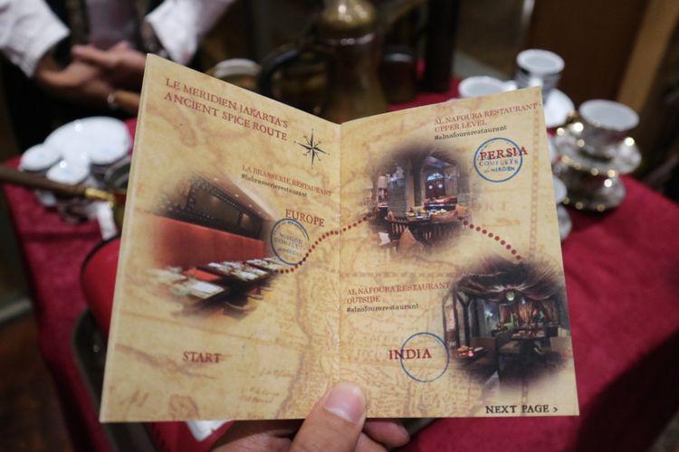 Peta Petualangan Jalur Rempah Tempo Dulu yang diadakan di Le Meridien Jakarta, Kamis (16/11/2017).