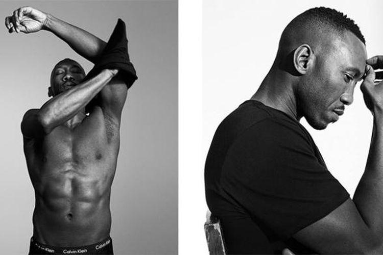 Mahershala Ali dalam kampanye koleksi terbaru Calvin Klein.