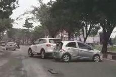 Fakta Viral Mazda Tabrak Brio di Pekanbaru, Polisi Lacak Pelaku hingga Kedua Mobil Penyok