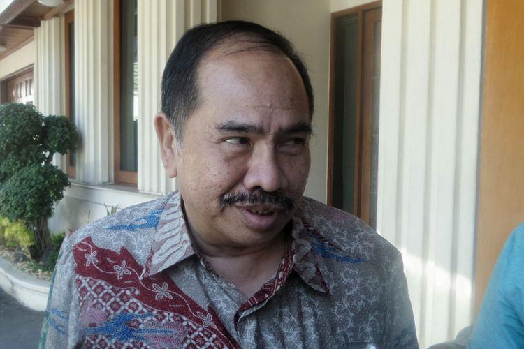 Kepala Pusat Pelaporan dan Analisis Transaksi Keuangan (PPATK) Kiagus Ahmad Badaruddin saat ditemui di Kemenko Polhukam, Jakarta Pusat, Senin (28/8/2017).