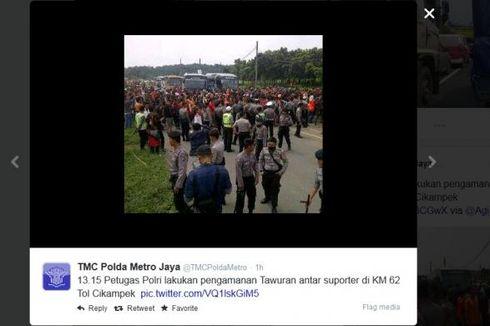 Pendukung Persija Macetkan Tol Jakarta-Bandung