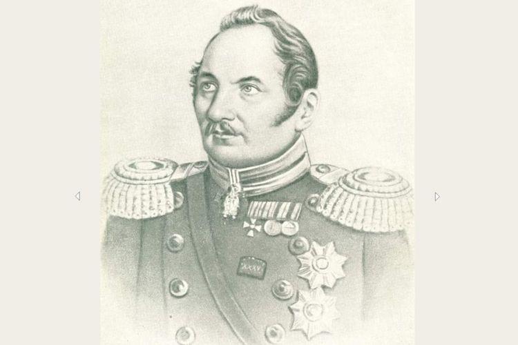Fabian Gottlieb von Bellingshausen, kapten angkatan laut Rusia yang menjadi penjelajah Kutub Selatan dan menemukan pulau-pulau di Antartika.