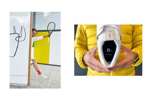 Petenis Roger Federer dan Brand Swiss Bikin Sepatu Tenis Retro