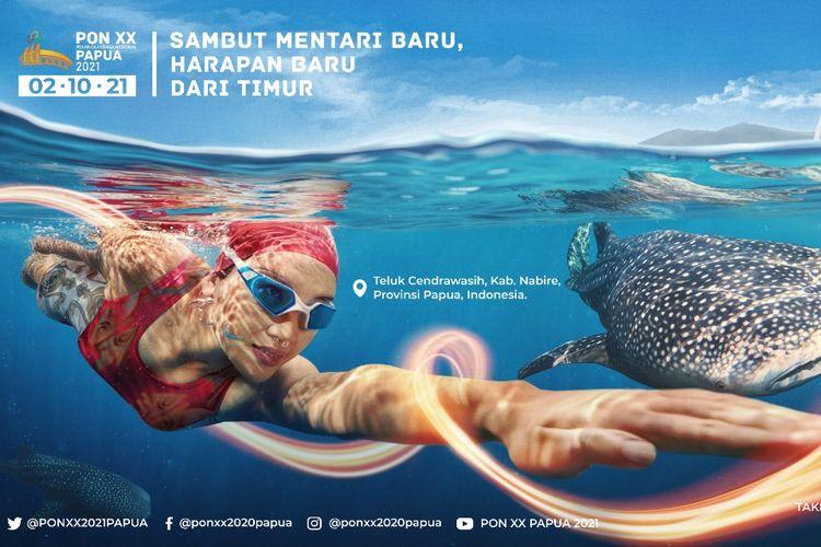 Salah satu promo tematik Pekan Olahraga Nasional (PON) ke-20 di Provinsi Papua.