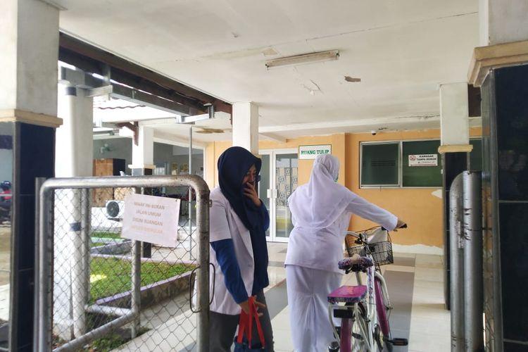 Ruang Tulip tempat isolasi pasien terduga virus corona di RSUD Abdul Wahab Syahranie Samarinda, Kalimantan Timur, Minggu (2/2/2020).