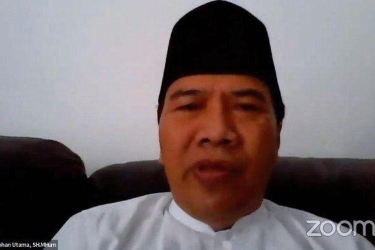 Rektor Undip Prof Yos Johan Utama saat menjadi narasumber dalam Forum Group Discussion (FGD) mengenai materi anti radikalisme di kampus lewat aplikasi Zoom, Selasa (4/8/2020).