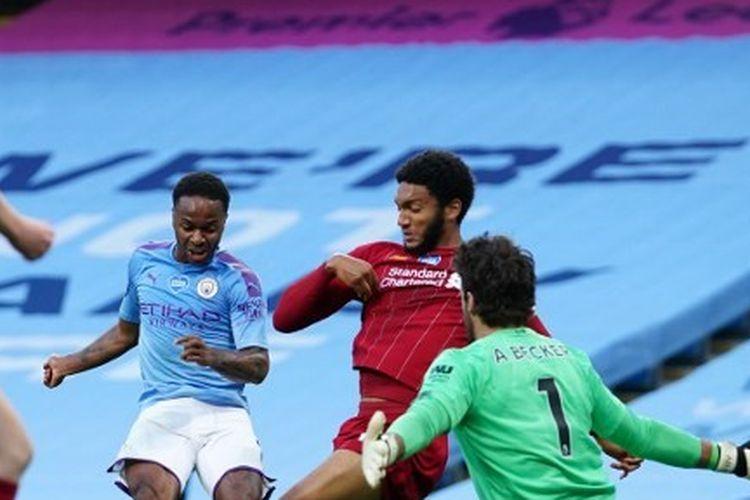 Laga Man City vs Liverpool pada lanjutan pekan ke-32 Liga Inggris, Jumat (3/7/2020) dini hari WIB.