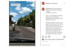 Video Viral Detik-detik Kecelakaan Tunggal di Nganjuk, Ini Kronologinya...