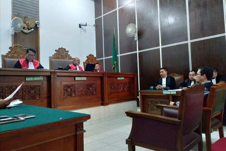 Mantan Plt Ketua PSSI, Joko Driyono jalani sidang replik di Pengadilan Negeri Jakarta Selatan, Senin (15/7/2019)