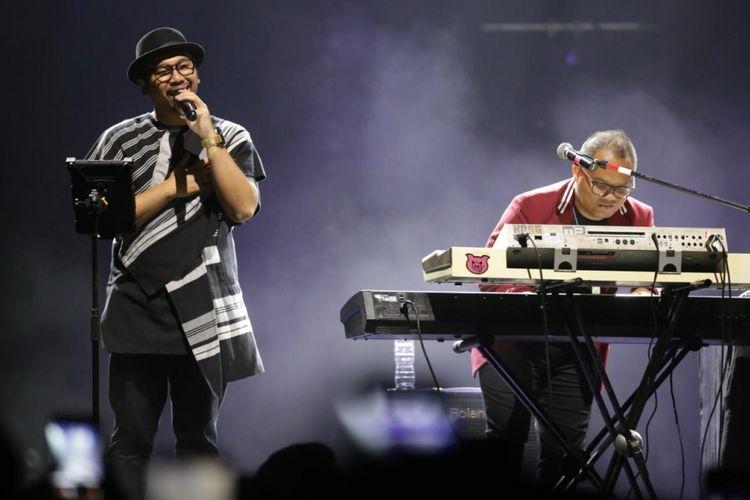 Kerispatih tampil bersama vokalis lamanya, Sammy Simorangkir dan mantan keyboardistnya, Badai di Love Festival Vol 3 di JCC, Senayan, Jakarta (8/2/2019).