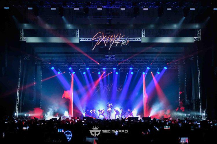 Konser Stray Kids di ICE BSD, Tangerang, Sabtu (26/1/2019) malam.
