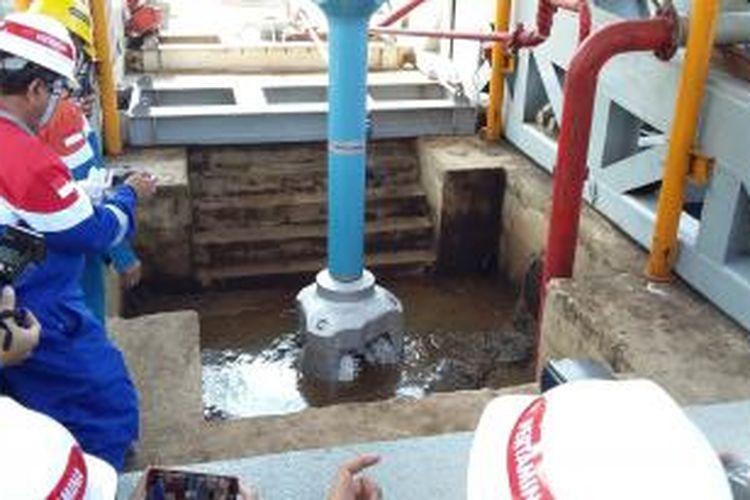 Pengeboran sumur sumber panas bumi milik PT Pertamina Geothermal Energy di Ulubelu, Tanggamus, Provinsi Lampung, Senin (17/8/2015).