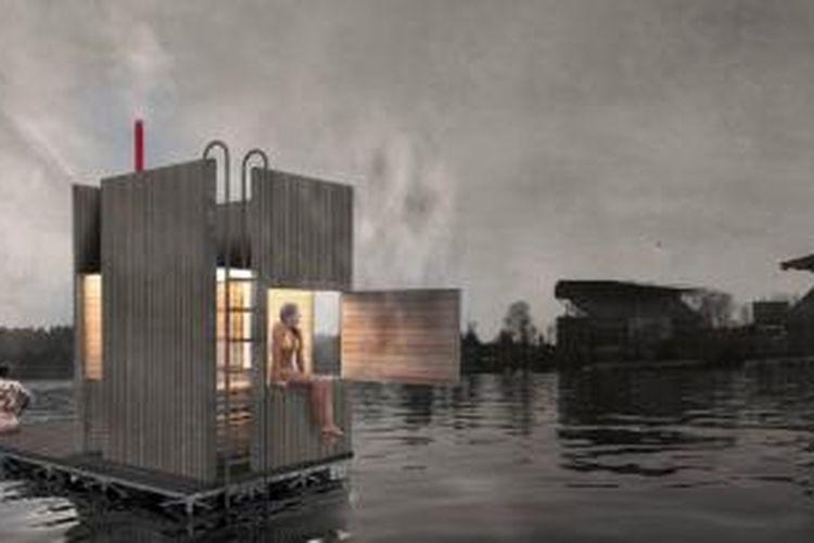 Pernahkah Anda membayangkan menikmati perawatan tubuh di tengah-tengah danau? Perusahaan arsitektur asal Seattle, Amerika Serikat, goCstudio merancangnya untuk Anda.