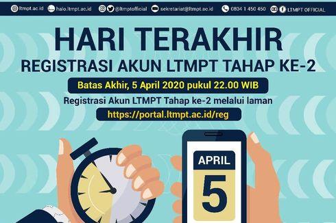 Hari Ini Terakhir! Registrasi Akun LTMPT Tahap II, Simak Caranya