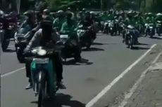 Viral, Video Ratusan Driver Ojol Konvoi Penuhi Jalanan Kota Bandung Sambil Teriak