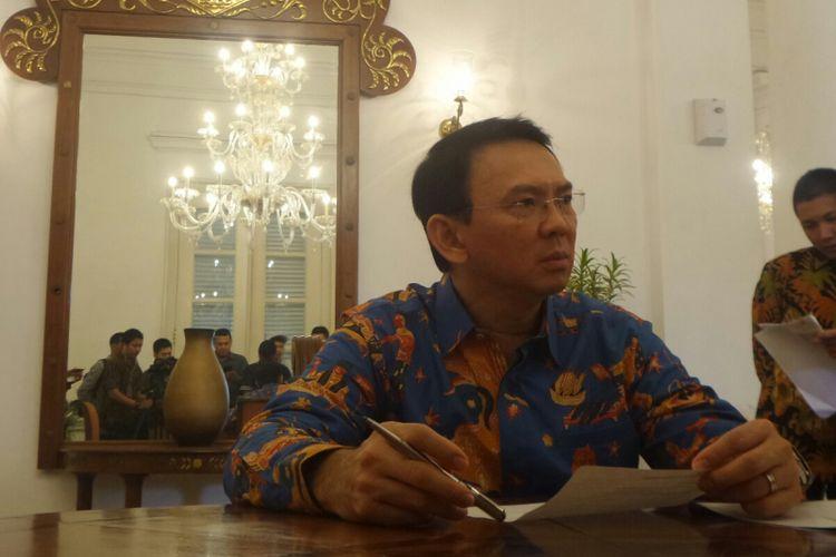 Gubernur DKI Jakarta Basuki Tjahaja Purnama di Balai Kota DKI Jakarta, Jalan Medan Merdeka Selatan, Kamis (4/5/2017).