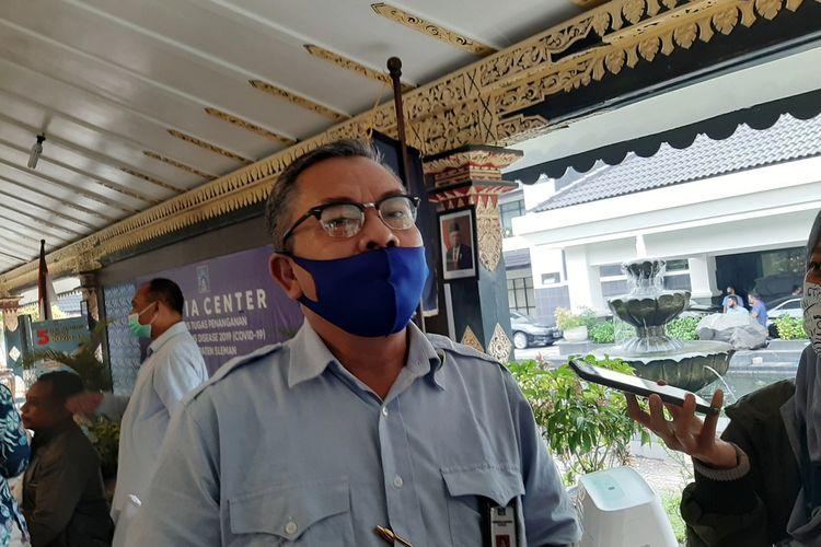 Kepala Dinas Pemberdayaan Masyarakat dan Desa (DPMD) Sleman Budiharjo saat menjelaskan sistem e-voting yang digunakan dalam Pilkades
