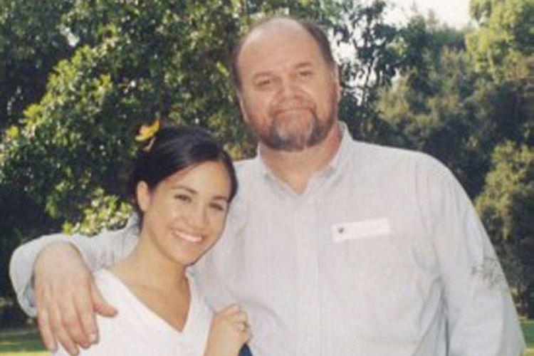 Foto masa lalu Meghan Markle bersama ayahnya Thomas Markle.