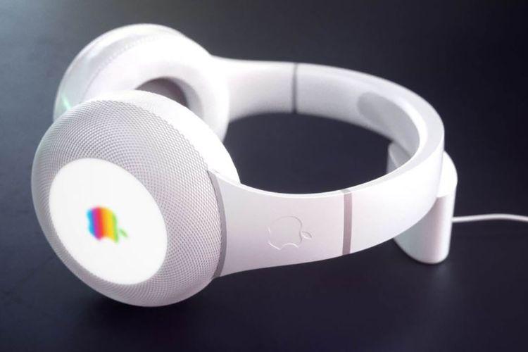 Gambar rekaan headphone Apple