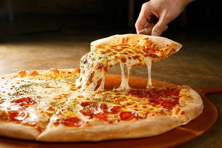 Ilustrasi pizza.