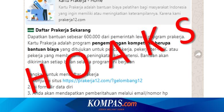 [HOAKS] Link Daftar Kartu Prakerja Gelombang 12 di www.prakerja12.com Halaman all