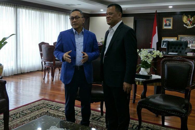 Mantan Panglima TNI Gatot Nurmantyo bertemu Zulkifli Hasan