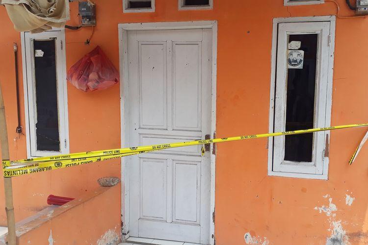 Lokasi penggerebekan terduga teroris di Perumahan Alamanda Regency, Jalan Nirwana II, Kelurahan Karang Satria, Kecamatan Tambun Utara, Kabupaten Bekasi, Senin (23/9/2019).