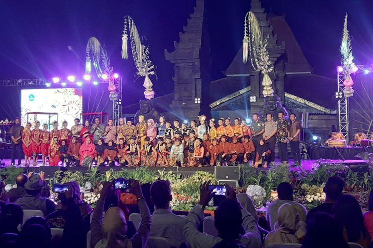 Penutupan Festival Panji Nusantara 2019 di Taman Krida Budaya, Malang, Jumat (12/7/2019).