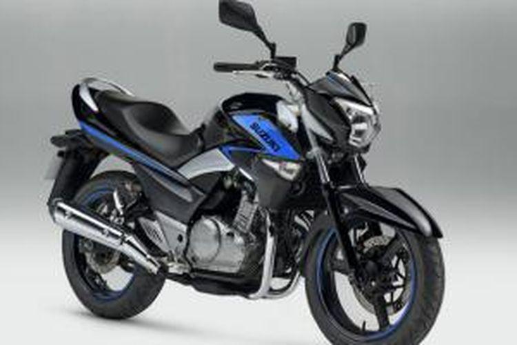 Salah satu corak warna baru Suzuki Inazuma 250.