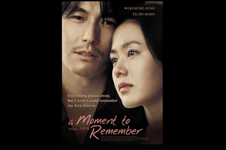 Poster film A Moment To Remember (2004), dibintangi Son Ye Jin dan Jung Woo Sung