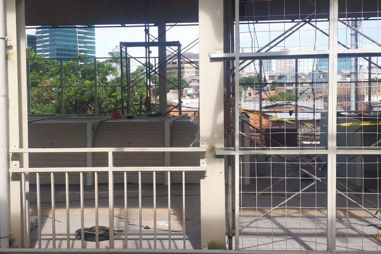 Jembatan multi guna atau skybridge Tanah Abang. Foto diambil Rabu (14/11/2018).