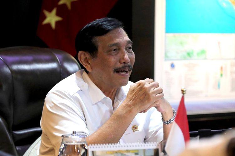 Menteri Koordinator bidang Kemaritiman dan Investasi Luhut Binsar Pandjaitan menggelar rapat koordinasi internal bersama Menparekraf Sandiaga Salahuddin Uno  membahas terkait pemulihan pariwisata secara virtual, Kamis (7/1/2021).