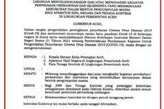 Gubernur Aceh Larang ASN Gelar atau Hadiri Pesta Pernikahan