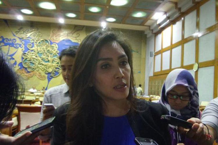 Anggota Komis VI DPR Rieke Diah Pitaloka di Kompleka Parlemen, Senayan, Jakarta, Rabu (18/5/2016)