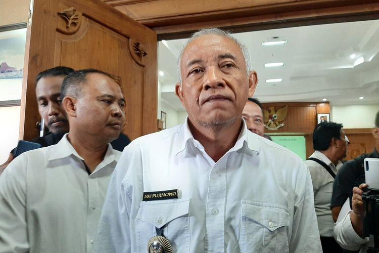Bupati Sleman Sri Purnomo saat menemui wartawan terkait kesiapan penanganan Covid-19