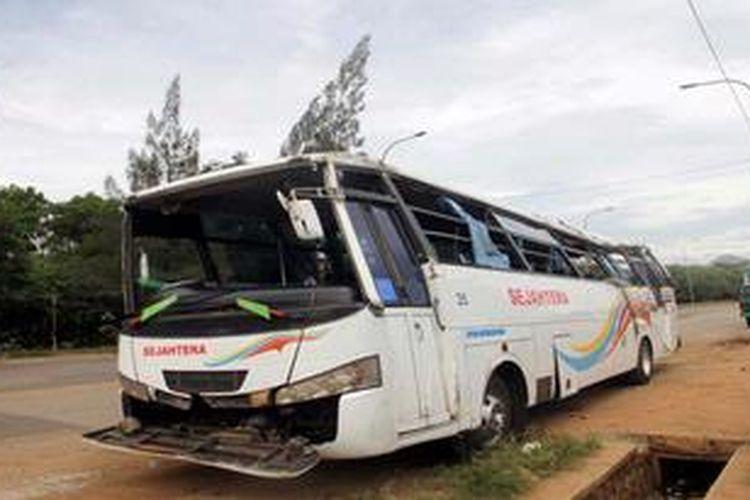 Ilustrasi. Kecelakaan Bus Pariwisata.