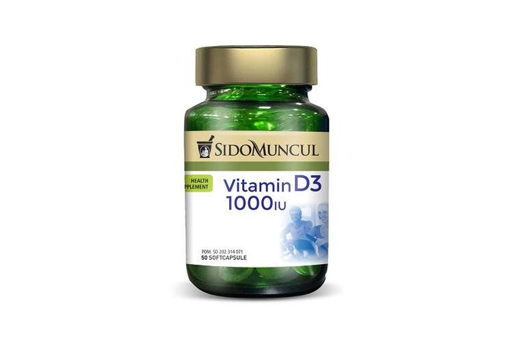 Produk Sido Muncul Vitamin D3 1000 IU