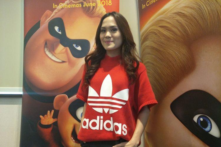 Sheryl Sheinafia diabadikan di Lippo Mall Puri, Jakarra Barat, Kamis (7/6/2018),  setelah berbagi pengalamannya berkunjung ke Studio Animasi Pixar di Amerika Serikat.
