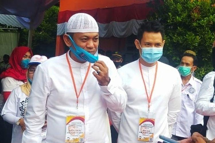 Pasangan calon Wali Kota dan Wakil Wali Kota Cilegon Ali Mujahidin-Firman Mutakin
