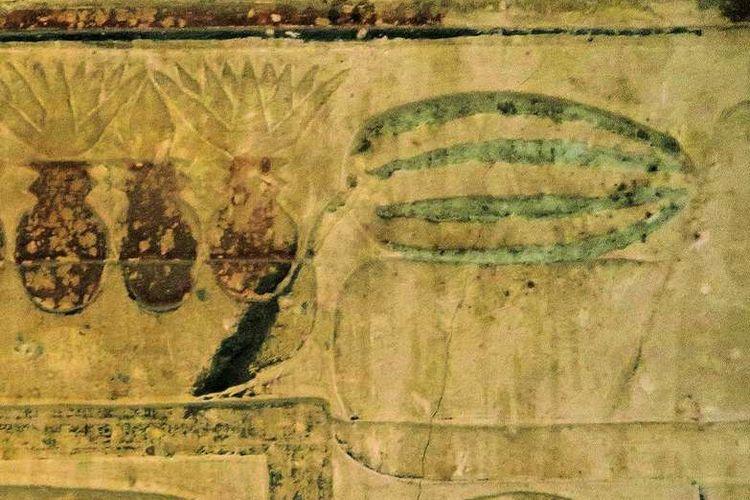 Lukisan semangka pada dinding kompleks pemakaman Mesir Kuno
