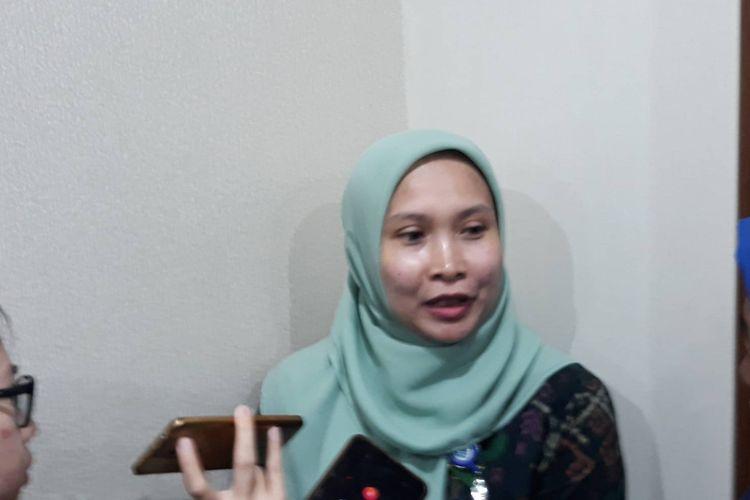 Kepala Seksi Perlindungan TKI Masa Penempatan, Direktorat Penempatan dan Perlindungan Tenaga Kerja Luar Negeri, Kementerian Ketenagakerjaan (Kemenaker), Maptuha, di kantor Kemenkes, Jakarta Selatan, Jumat (7/2/2020).