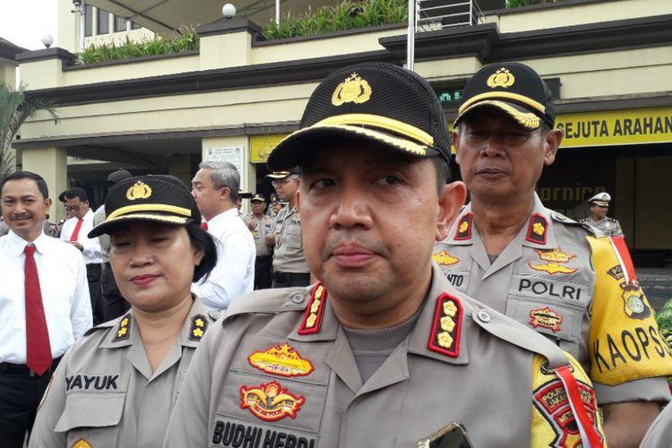 Kapolres Metro Jakarta Utara Kombes Budhi Herdi Susianto di Malolres Metro Jakarta Utara, Selasa (19/2/2019).